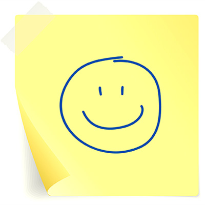 Post it con sonrisa